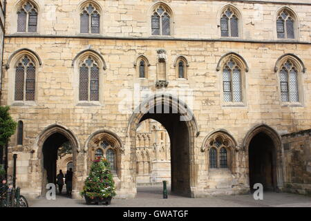 The Exchequer Gate, Lincoln, England - Stock Photo