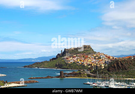 Medieval town of Castelsardo on Sardinia, Italy - Stock Photo