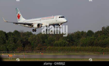 Embraer 190 C-FHNY Air Canada landing at YOW Ottawa Canada, June 04, 2015 - Stock Photo