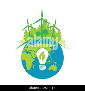 green energy tech eco environment friendly technology - Stock Photo