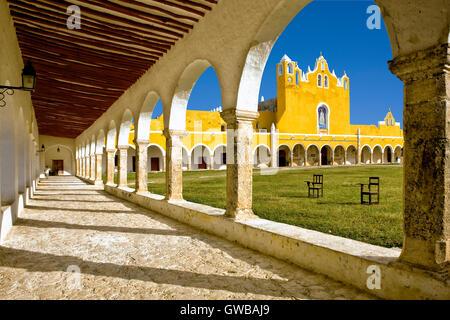 San Antonio de Paduaconvent in Izamal, Mexico - Stock Photo