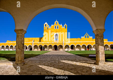San Antonio de Padua convent in Izamal, Mexico - Stock Photo