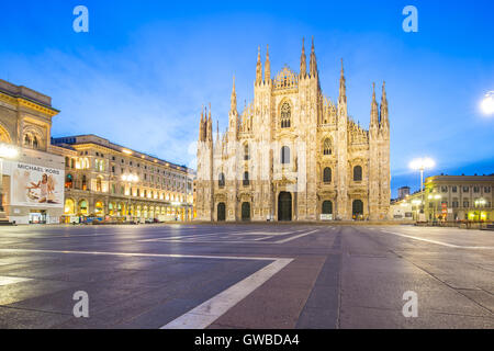 The Duomo of Milan Cathedral in Milano, Italy. - Stock Photo