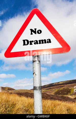 No drama Australian saying no problem no worries Everything is alright no harm done slang calm down relax sign words - Stock Photo