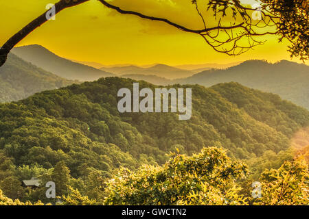 Great Smoky Mountains National Park, Tennessee - Stock Photo
