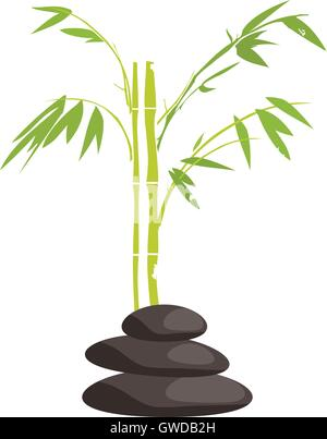 ... vector illustration of spa items relaxing background - Stock Photo