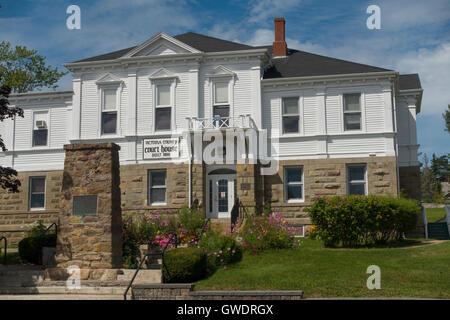Victoria county court house Baddeck Cape Breton - Stock Photo