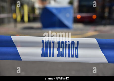 Camden High Street, London, UK. 13th September 2016. Police and crime scene officers investigate at the accident - Stock Photo
