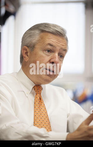 San Francisco, CA, USA. 21st Aug, 2008. Wells Fargo CEO John Stumpf at the Wells Fargo Headquarters in downtown - Stock Photo