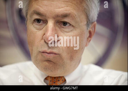 August 21, 2008 - San Francisco, CA, U.S - Wells Fargo CEO John Stumpf at the Wells Fargo Headquarters in downtown - Stock Photo