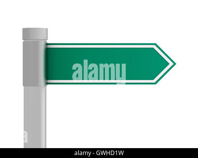 blank road sign concept  3d illustration - Stock Photo