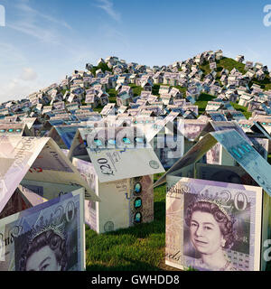 UK housing crisis - House building concept, house prices and housing estate development concept - Stock Photo