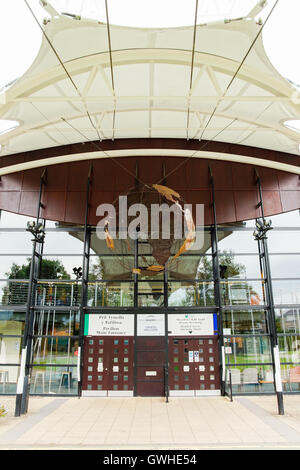 Architectural details of the Llangollen International Eisteddfod Pavilion or Royal International Pavilion - Stock Photo