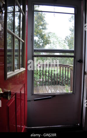 Letting in the summer rain. - Stock Photo