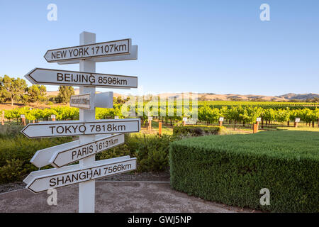 The Jacob's Creek Visitor centre in South Australia's Barossa Valley - Stock Photo