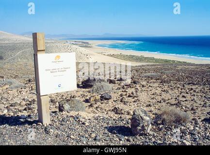 Sotavento beach. Jandia Nature Reserve, Fuerteventura island, Canary Islands, Spain. - Stock Photo