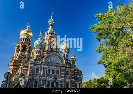 Russia, St. Petersburg, The Church of the Savior on Spilled Blood - Stock Photo