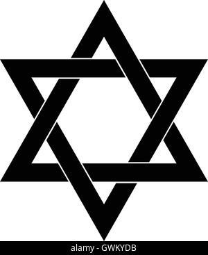 Star of David , Shield of David , Magen David , isolated vector illustration - Stock Photo
