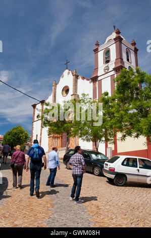 External view of Silves Cathedral, SIlves, Algave, Portugal - Stock Photo