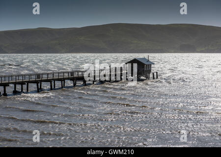 Jetty in Tomales Bay, near Point Reyes Station area, on Highway 1, California, USA. - Stock Photo