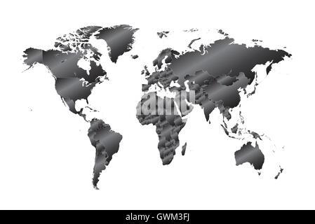 world map infographic - Stock Photo