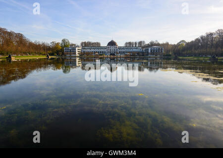 Bremen - Hollersee with Park Hotel in the background - Stock Photo