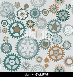 Clock's cog-wheels pattern. Color bright decorative background vector illustration EPS-8. - Stock Photo