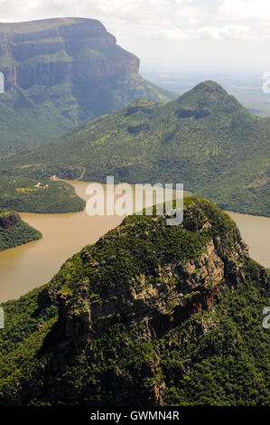 The Blyde River Canyon in South Africa forms the northern part of the Drakensberg escarpment. - Stock Photo