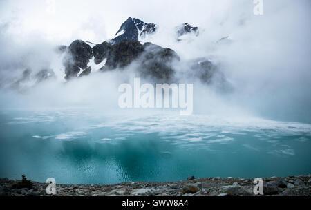 Wedgmemount Lake, Whistler, British Columbia, Canada - Stock Photo