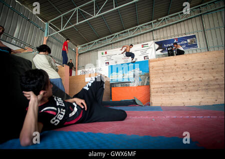 '3 Run Gaza' in training at their base in Beit Hanoun, Gaza Strip. - Stock Photo