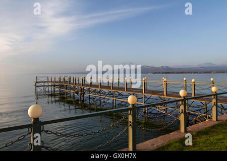 Dock at the Lake Sevan in Armenia. - Stock Photo
