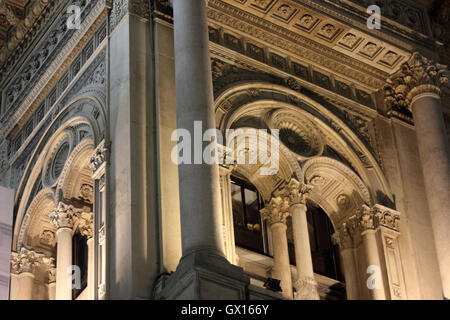 a detail of the Galleria Vittorio Emanuele, Milan, Italy - Stock Photo