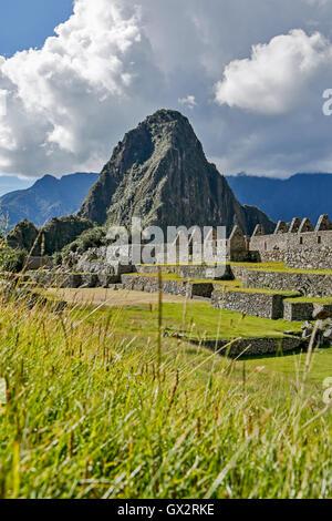 Machu Picchu ruins, Cusco, Peru - Stock Photo