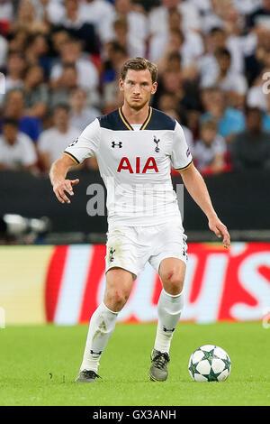 London, UK. 14th Sep, 2016. Jan Vertonghen (Tottenham) Football/Soccer : Jan Vertonghen of Tottenham Hotspur during - Stock Photo
