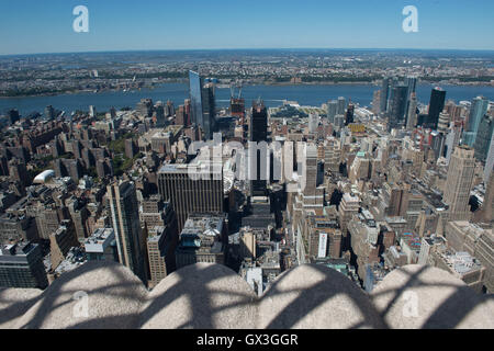 New York, NY, USA. 15th Sep, 2016. View of New York City looking west from the Empire State Building, Thursday, - Stock Photo
