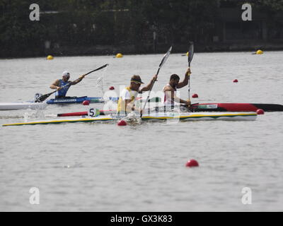 Rio de Janeiro, Brazil. 15th September, 2016. Rio 2016 Paralympic Games Inaugural Canoe Sprint Competition Credit: - Stock Photo