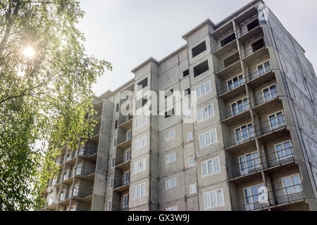 Building of new multi-storey house. Russia. - Stock Photo
