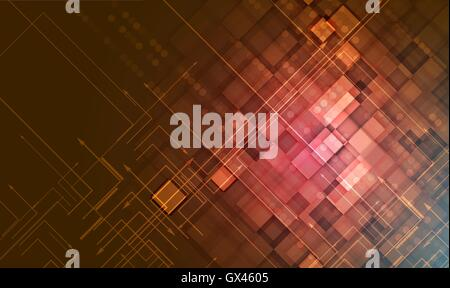 Grunge high temperature technology vector background. Retro futuristic style - Stock Photo