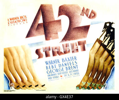 42nd STREET 1933 Warner Bros film - Stock Photo
