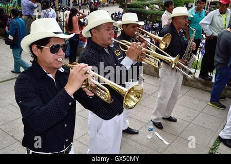 Procession - Fiestas de la Virgen del Carmen in HUANCABAMBA.. Department  of Piura .PERU - Stock Photo