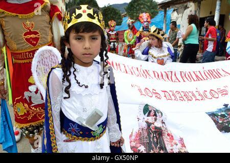 Devils -  Procession - Fiestas de la Virgen del Carmen in HUANCABAMBA.. Department  of Piura .PERU - Stock Photo