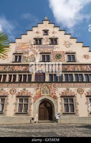 Altes Rathaus in Lindau am Bodensee,  Bayern, Deutschland    old town hall in Lindau, Bavaria, Germany - Stock Photo