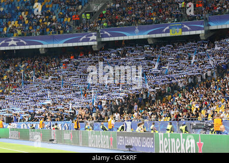 FC Dynamo Kyiv ultra supporters (ultras) perform - Stock Photo