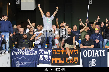 SSC Napoli supporters show their support - Stock Photo