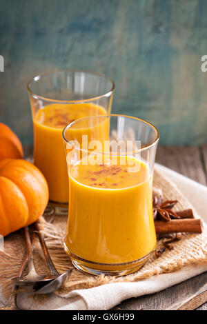 Fresh pumpkin juice - Stock Photo