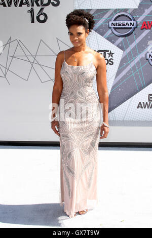 2016 BET Awards Arrivals held at at the Microsoft Theater  Featuring: Kimberly Elise Where: Los Angeles, California, - Stock Photo