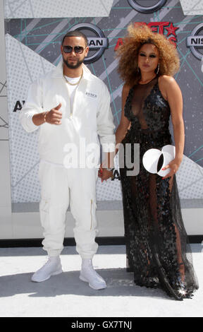 2016 BET Awards Arrivals held at at the Microsoft Theater  Featuring: Guest Where: Los Angeles, California, United - Stock Photo