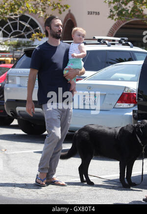 Brandon Jenner steps out with his little baby girl Eva ...