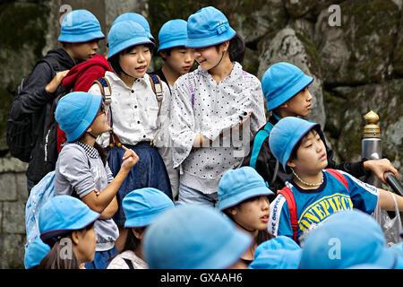 Japan, Honshu island, Kansai, Kyoto, schoolchildren. - Stock Photo