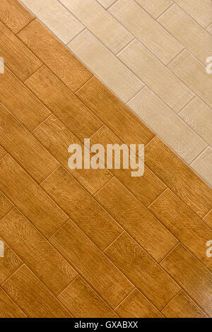 Light Wood Floor Background. Old wood wall as background  of light and dark parquet flooring Stock Photo